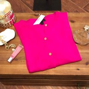 J crew fuchsia pink sweater.